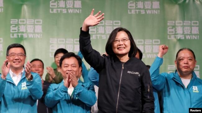 蔡英文:侵略台湾,中国将付沉重代价