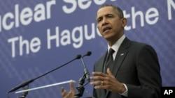 Presiden AS Barack Obama mengatakan Amerika prihatin dengan kemungkinan langkah Rusia selanjutnya (25/3).