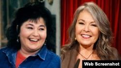 Rosanne Barr (solda 30 yıl önceki haliyle) (ABC)