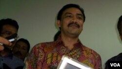 Mantan Menteri Pemuda dan Olahraga Andi Alfian Mallarangeng. (VOA/Fathiyah Wardah)