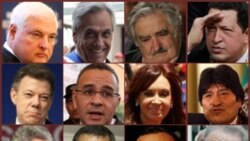 Presidents of Latin America. Photos from AP