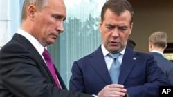 روس کے صدر میدویدف اور وزیراعظم پوٹن
