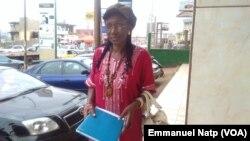 Marie Jeanne Abega, Délégué régional Alternance 2018 pour la région du centre à Yaoundé, 23 mars 2017. (VOA/Emmanuel Natp)