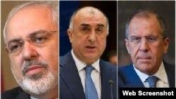 Azərbaycan, Rusiya və İran xarici işlər nazirləri