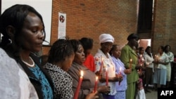 Активистки движения за права женщин отмечают 8 Марта в Найроби, Кения.