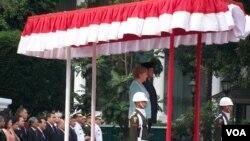 Presiden Susilo Bambang Yudhoyono dan Kanselir Jerman Angela Merkel di Istana Negara, Jakarta. (Photo: VOA)