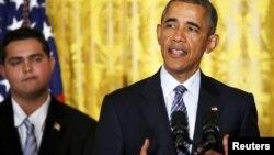 美国总统奥巴马在华盛顿发表清洁能源计划的讲话 (2015年8月3日)