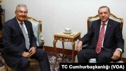 Antalya Milletvekili Deniz Baykal, Cumhurbaşkanı Erdoğan'la Ankara'da Dışişleri Konutu'nda biraraya geldi