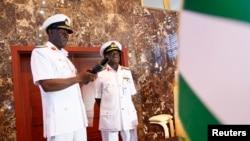 Sabon Hafsin sojojin ruwa, Rear Admiral Usman O. Jibrin.
