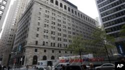 미국 뉴욕의 연방준비제도이사회 건물 (자료사진)