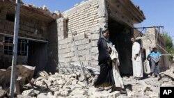 차량폭탄공격이 발생한 이라크 수도 바그바드 북쪽 타지의 현장 사진