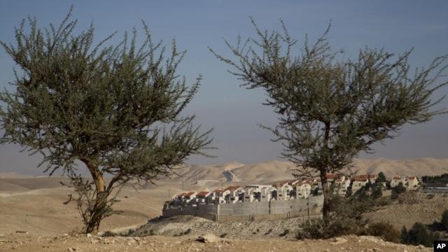Loyihaga ko'ra, Isroil G'arbiy Sohilda, Quddus yaqinida Maaleh Adumim posyolkasini qurmoqchi, 2-dekabr, 2012-yil.