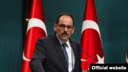 Ibrahim kalin, peyvdarê Serokomarê Tirkiyê