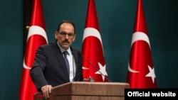 Ibrahim kalin peyvdarê Serokomarê Tirkiyê