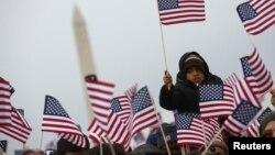 Национальный молл. Вашингтон, округ Колумбия. 21 января 2013 года