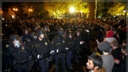 اخطار پلیس پورتلند به معترضان جنبش اشغال