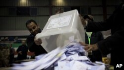 Misrda konstitutsiya loyihasi bo'yicha berilgan ovozlar, 22-dekabr, 2012-yil