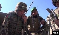 Đại tá Quân đội Quốc gia Afghanistan Mohammad Jan Dar-yab chỉ huy các đội quân ở tỉnh Nangarhar.