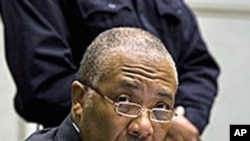 Former Liberian President Charles Taylor awaits the start of the prosecution's closing arguments during his trial at the U.N.-backed Special Court for Sierra Leone in Leidschendam, February 8, 2011