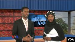 Abdi H. Mahamud and Sahra Nur host Variety, the VOA Somali Service's first ever TV program