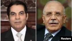 Cựu Tổng thống Tunisia Zine al-Abidine Ben Ali (trái) và cựu Bộ trưởng Nội vụ Rafik Belhaj Kacem tại Tunis năm 2009