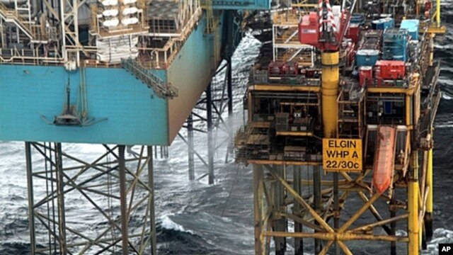 Elgin platform, owned by the French firm Total, in undated photo received in London, March 30, 2012.
