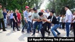 Một cuộc biểu tình chống hai dự luật đặc khu và an ninh mạng tại Việt Nam.