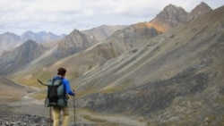Andrew Skurka hiking in the Arctic National Wildlife Refuge in Alaska in August of last year