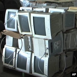 Electronic waste such as old televisions, computers, radios and cell phones is a growing environmental problem