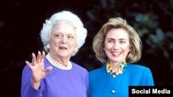 Barbara Buş və Hillari Klinton