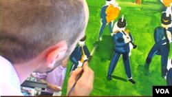 دربازدید ازیک نمایشگاه هنر نقاشی