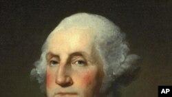 ພາບຂອງ ມື້ລາງ ປະທານາທິບໍດີ George Washington.