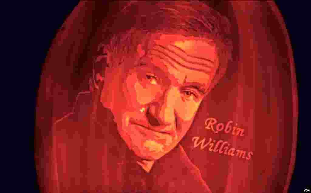 罗宾威廉斯令人怀念(美国之音国符拍摄)