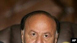 ຮອງປະທານາທິບໍດີ Abdu Rabu Mansour Hadi ແຫ່ງເຢເມນ ວັນທີ 6 ມິຖຸນາ 2011