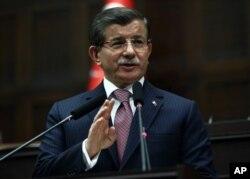 FILE - Turkish Prime Minister Ahmet Davutoglu