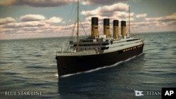 Australian billionaire Clive Palmer is planning to build Titanic II, scheduled to sail in 2016. The original Titanic met its fate hitting an iceberg. (Blue Star Line rendering)