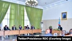 Le président Joseph Kabila lors d'une discussion avec les représentants de grandes compagnies minières, Kinshasa, RDC, 7 mars 2018. (Twitter/Présidence RDC)