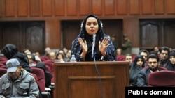 Reyhaneh Jabbari, dalam persidangan pada 2008.