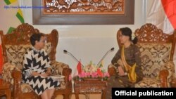 indonesia FM Retno Marsudi and Myanmar