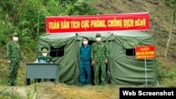 Một chốt biên phòng ở Trịnh Tường, Lào Cai. Photo QĐND