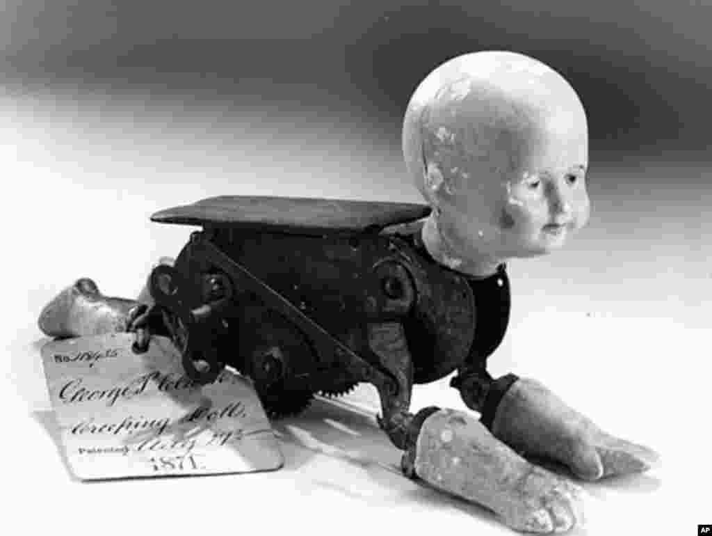 Model for a creep baby doll, which was patented in 1871. (Smithsonian)