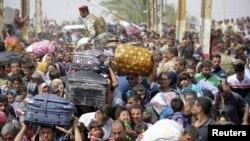 Wadanda mayakan ISIS suka tilastawa barin muhallansu a Iraqi