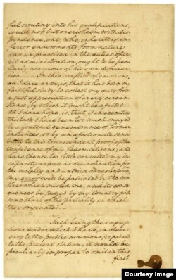 Images of George Washington's inaugural address in 1789. (Courtesy: The National Archives)