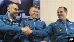 16일 지구로 귀환한 국제우주정거장 우주인들
