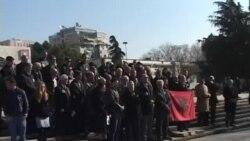 Protestë në Tiranë për mbrojtjen e lumenjve Radika dhe Vjosë