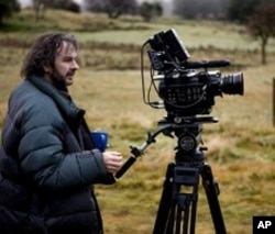 Director Peter Jackson on the set of the movie