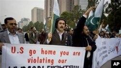 Biểu tình phản đối Mỹ ở thủ đô Islamabad, Pakistan