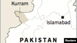 Letak wilayah kesukuan Kurram yang berbatasan dengan Afghanistan.