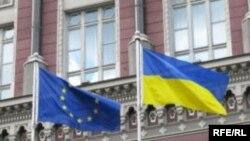 Ukraine-EU-flags