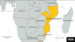 莫桑比克地理位置圖